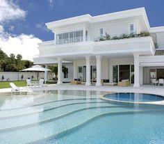 mediterranean homes plans Dream Home Design, Modern House Design, Dream Mansion, Tuscan House, Modern Mansion, Luxury Homes Dream Houses, Dream House Exterior, Exterior Homes, Mediterranean Homes