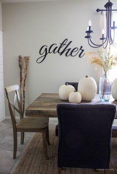 "Simple Fall Tablescape - white pumpkins & wheat stems | <a href=""http://ahouseandadog.com"" rel=""nofollow"" target=""_blank"">ahouseandadog.com</a>"