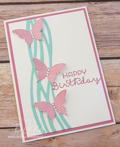 Swirly Scribbles Butterfly Birthday Card made using Stampin' Up! UK Supplies which are available to buy here.