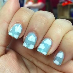 Up in the Clouds // Spring Nail Art Ideas