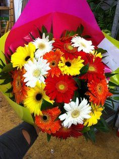 Bouquet de gerberas multicolor