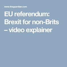 EU referendum: Brexit for non-Brits – video explainer