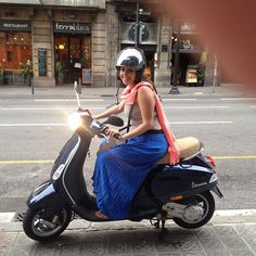 Scooting in Barcelona