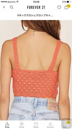 Crochet Halter Tops, Bikini Crochet, Crochet Crop Top, Crochet Blouse, Knit Crochet, Infinity Clothing, Mode Crochet, Ibiza Fashion, How To Purl Knit
