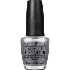 OPI Haven't the Foggiest Nail Lacquer (15ml) ($17) ❤ liked on Polyvore featuring beauty products, nail care, nail polish, nails, kosmetiikka, beauty, makeup, metallic nail polish, nail lacquer and opi nail lacquer