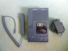 Sony M-2020 Microcassette Dictator Transcriber w/ AC Adaptor Microphone #Sony