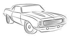 Muscle car drawing