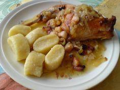 Recept je po mé babičce, takto se králík u nás připravuje už několik generací. Czech Recipes, Ham, French Toast, Oatmeal, Food And Drink, Chicken, Cooking, Breakfast, Czech Food