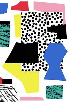 Trends Collage / Cut Out Graphic Patterns, Textile Patterns, Graphic Prints, Textile Design, Print Patterns, Pattern Art, Abstract Pattern, Pattern Design, Memphis Design