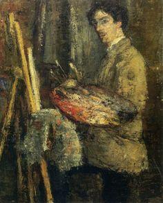1879 James Ensor Portrait De L Artiste Au Chevalet Portrait Of The Artist To The Rest