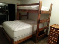 Wasatch Bunk Bed Twin loft over Matching Queen