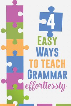 Four quick and easy ways to incorporate grammar into everyday ELA lessons. Looking to add spice with grammar? It can be done!