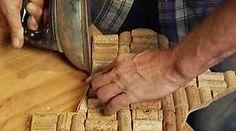 how to flatten a wine cork - Bing video