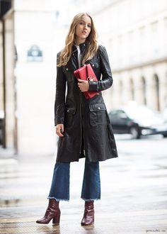 O estilo parisiense de Alexandra «Costanza Pascolato - Herbst Outfits - Moda Fashion, Denim Fashion, Fashion Outfits, Womens Fashion, Fashion 2016, Look Street Style, Street Chic, Paris Street, Fall Winter Outfits