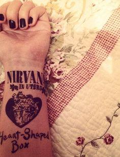 This is such an awesome tattoo Lyric Tattoos, All Tattoos, Tatoos, Nirvana Tattoo, Nirvana Lyrics, Loyalty Tattoo, Enough Tattoo, Tasteful Tattoos, Tattoos