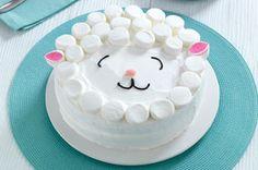 Sencillo pastel en forma de corderito receta