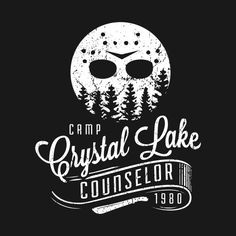 Check out this awesome 'Camp+Crystal+Lake+Counselor' design on Logo Camping, Retro Camping, Camping Tattoo, Solar Camping, Indoor Camping, Tent Camping, Fall Halloween, Halloween Crafts, Halloween Decorations