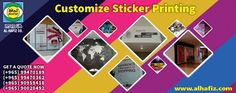 Adhesive Stickers have a significant role in #branding. Whether it is safety sticker or a product sticker, indoor or outdoor, you will find them in multiple display. Al-Hafiz provide the best #sticker #printing #services in #Kuwait.