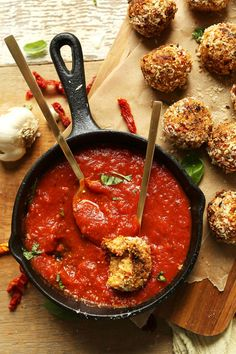 AMAZING Sun dried Tomato & Basil Vegan Arancini! Cauliflower rice adds healthy fiber. A great side dish for Italian night! #vegan #italian #cauliflowerrice #healthy #recipe