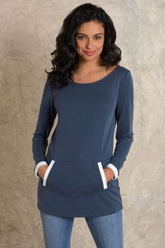 Taylor Tunic - Womens Tunic Top, Kangaroo Pocket Tunic | Soft Surroundings