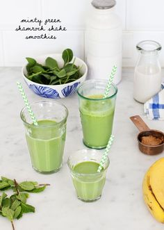 Shamrock Smoothie great for St. Paddy's day!