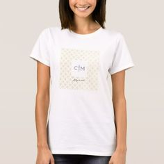 Gold Geometric Monogram Wedding Date Women T-Shirt - chic design idea diy elegant beautiful stylish modern exclusive trendy