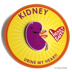 Kidney Lapel Pin - Urine My Heart!