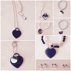 Collana plexiglas cuore in vari modelli. Bracciali fashion in cristallo.  Collana € 10 Bracciale filo singolo € 5