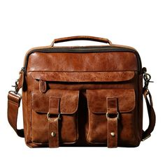 Leather Bag, Business Laptop Bag,Crossbody Leather Bag GLT004