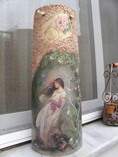 Τέχνη χωρίς όρια.......!: Decoupage σε κεραμίδι