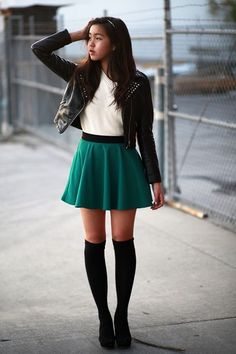 Cute St. Patrick's day school outfits for teenage girls. #highschool