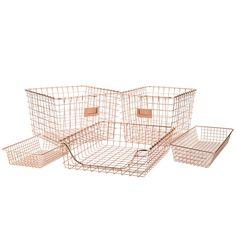 Copper wire baskets  http://www.rejuvenation.com/catalog/products/copper-wire-gym-basket-large