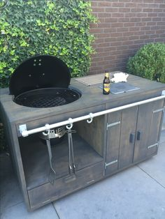 If you are looking for Grill Bar Outdoor, You come to the right place. Here are the Grill Bar Outdoor. This post about Grill Bar Outdoor was posted under the Outdoor Ide. Outdoor Kitchen Bars, Backyard Kitchen, Outdoor Kitchen Design, Backyard Bbq, Outdoor Bars, Outdoor Ideas, Table Grill, Grill Cart, Patio Grill