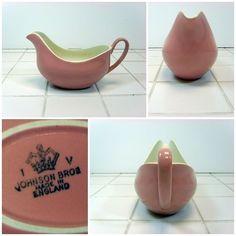 Sauce Jug / Gravy Boat - Johnson Bros Rose Cloud - Pink Vintage British FREE P&P