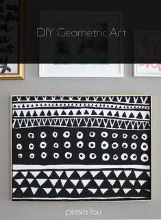 Persia Lou: DIY Black and White Geometric Art