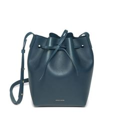 Mansur Gavriel Blu Mini Bucket Bag / Shop Super Street - 1