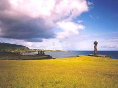 Easter Island offers an untouched peek at a culture who came and crafted long before us. Tahiti, Statues, Juan Fernandez, Drake Passage, Hotel Bel Air, Chile, South American Countries, Easter Island, Archaeological Site