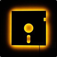 LED lit floppy disk