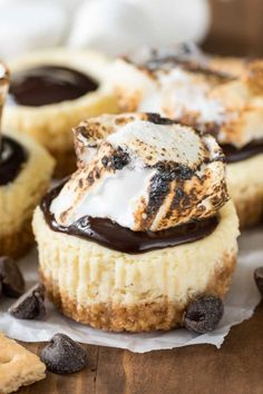 Mini S'mores Cheesecakes - CountryLiving.com
