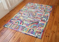 I've said it before and I'll say it again: rugs are incredibly underrated, and I'm thrilled to see more and more designers starting to pay attention to the humble textiles underfoot. This week we have another example: colorful squirted-foam rugs made by the designers at Nightshop, an experimental product studio