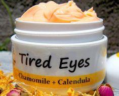 Shooting Tired Eyes/EYE CREAM with Calendula & Chamomile - Calming Eye Cream - Soothing Eye Solution/ Natural Handmade SkinCare #EyeCream #Calendula #Handmade #TiredEyes #WrinkleCream #Natural #chamomile #skincareroutine #healthyskin #acneproducts #DiyEyeCream Organic Roses, Organic Herbs, Grapefruit Seed Extract, Calendula Oil, Unrefined Shea Butter, Tired Eyes, Vegetable Glycerin, Organic Coconut Oil, Anti Aging Cream