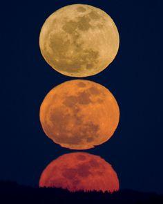 Super-Lua em Em Massachusetts, USA.  Fotografia: Gregory Scheckler em 19/03/2011.
