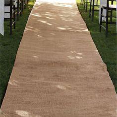 Burlap Aisle Runner Beach Garden Wedding, 36-inch x 100-feet, Natural