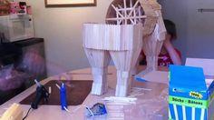 A tall Trojan Horse built entirely out of Popsicle Sticks! Model School, Trojan Horse, Mycenaean, Greek Art, Popsicle Sticks, Greeks, Ancient Greece, School Projects, Homework