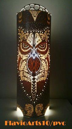 Fl@vio@rts10:   Foto enviada pelo cliente, luminária coruja 2, c...