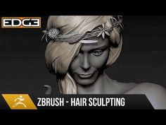 How to Sculpt Hair in ZBrush Tutorial HD - YouTube
