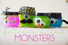 Glitter Slime Monsters Tutorial.
