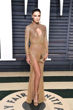 Adriana Lima In LaBourjoisie - At the Vanity Fair Oscar Party