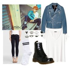 """""""BTS Comeback: Jimin Outfit Inspiration☺️"""" by daisslovebeauty on Polyvore featuring H&M, Gucci, Dr. Martens and Pieces"""
