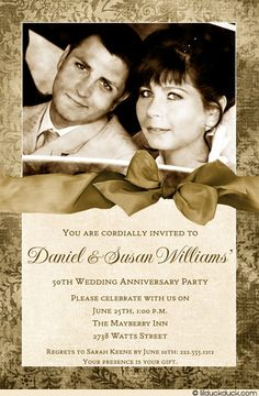 50th Wedding Anniversary Party invitation #devotion #persistence